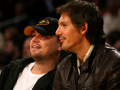 Leo DiCaprio and Lukas Haas Do Guys Night Out