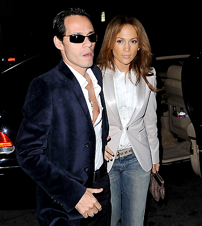JLo and Marc Anthony: Happy at the Luau?