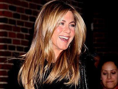 Jennifer Aniston Thinks David Letterman Is Fit to Be Tied