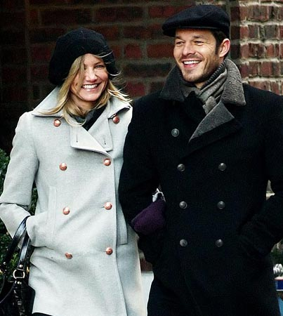 Cameron Diaz and Paul Sculfor: Christmas Time in the City