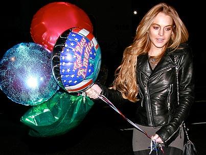 Lindsay Lohan Is a Birthday Balloon Babe