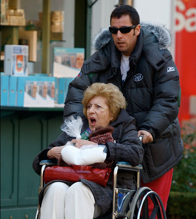 Adam Sandler Hits a Grove With Granny