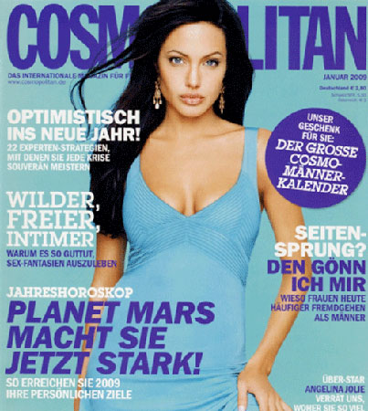 Angelina Jolie Talks Brad Pitt in German 'Cosmo'