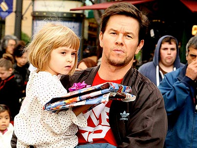 Mark Wahlberg Takes the Kids to See Santa!
