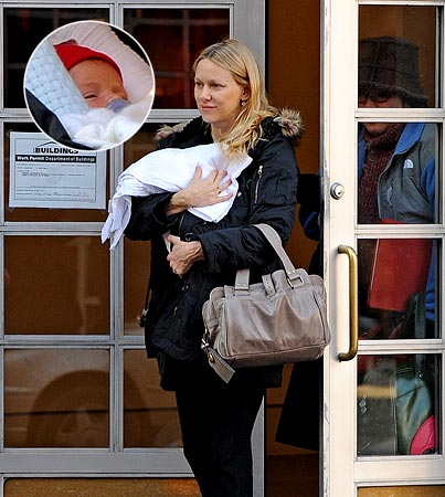 Naomi Watts Shows Off Baby Samuel