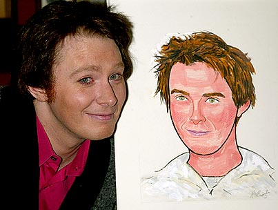 Clay Aiken Gets His Face Done