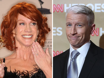 Anderson Cooper Gets a Mouthful from Kathy Griffin