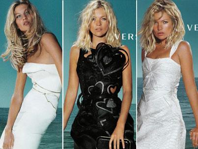 Va-Va-Versace: Kate Moss & Giselle Bundchen