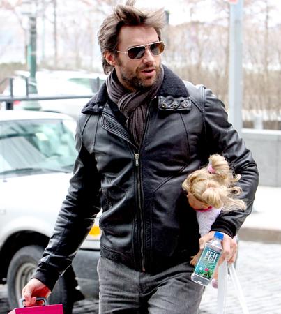 Hugh Jackman Toys Around with his Kids