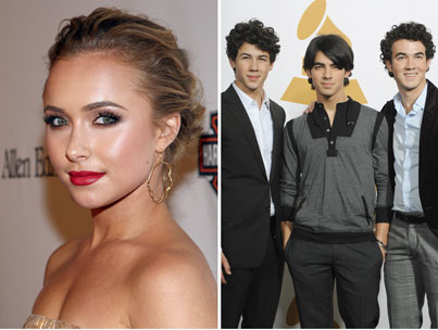 Hayden Panettiere and the Jonas Brothers Get Golden