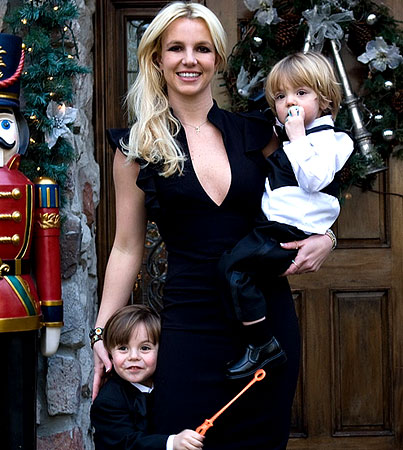 Britney Spears Dresses Up Her Boys for Bro's Wedding