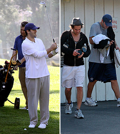 Tony Romo Golfs With Papa Joe
