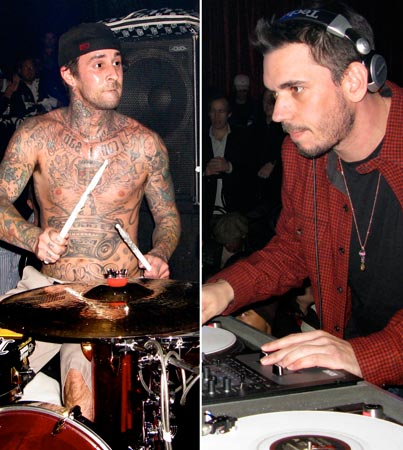 Travis Barker and DJ AM Rock the Luxor