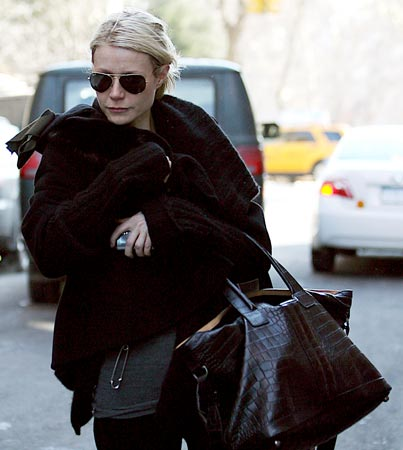 Gwyneth Paltrow Feels the Chill at Madonna's House
