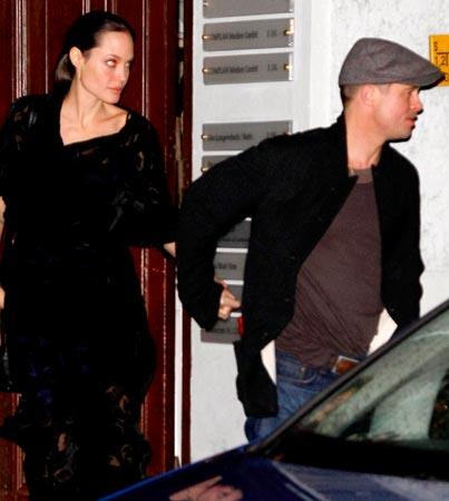 Brad and Angelina Do Italian in Germany