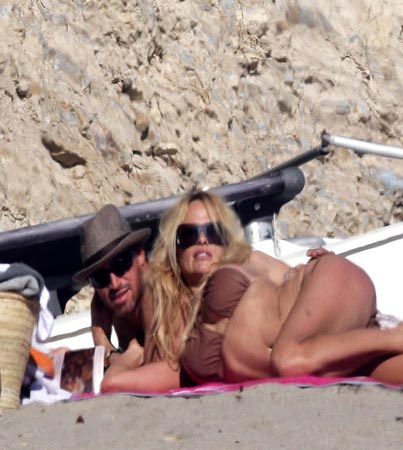 Pam Anderson Hits the Beach With a New Man