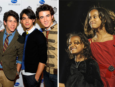 The Obama Girls' Late-Night Jonas Brothers Visit