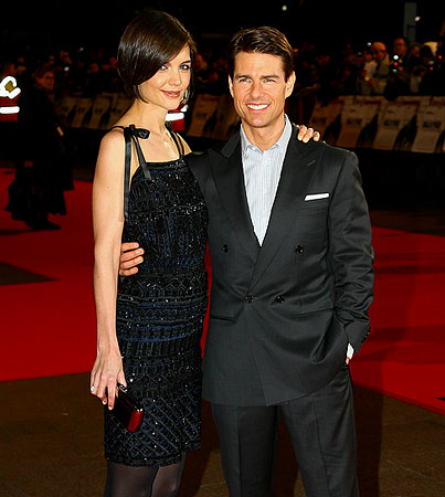 Tom Cruise and Katie Holmes Do 'Valkyrie' in London