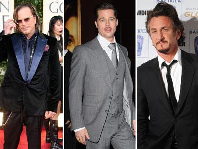 Brad Pitt: Mickey Rourke and Sean Penn Are 'Gods'