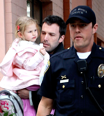 Ben and Violet Affleck Get a Police Escort