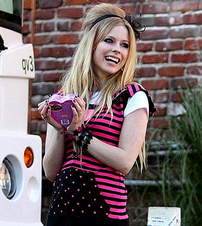 Avril Lavigne Holds Her Heart In Her Hands