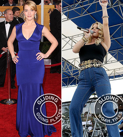 Gliding or Sliding? Kate Winslet Tops Jessica Simpson
