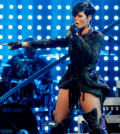 Rihanna's Boots Are Made For Singin'