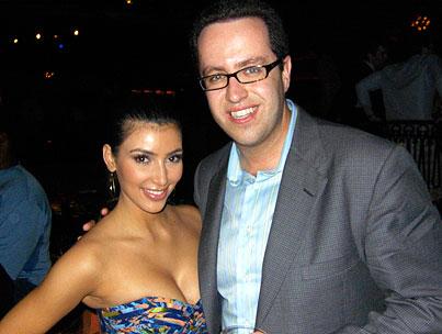 Super Bowl Pals: 'Subway Jared' Meets Kim Kardashian in Tampa