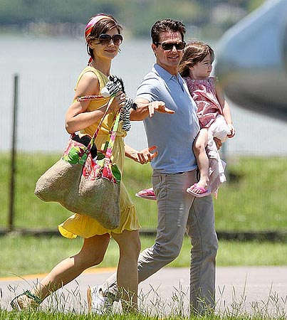 Tom Cruise, Katie Holmes and Suri: Flying High in Rio