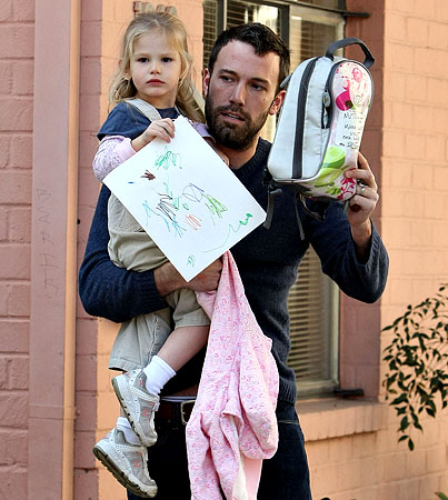 Ben Affleck's Pick-Up Peek-a-Boo with Violet