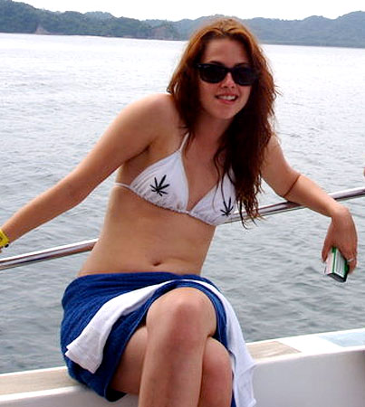 Kristen Stewart Has a Chest Full of Weed