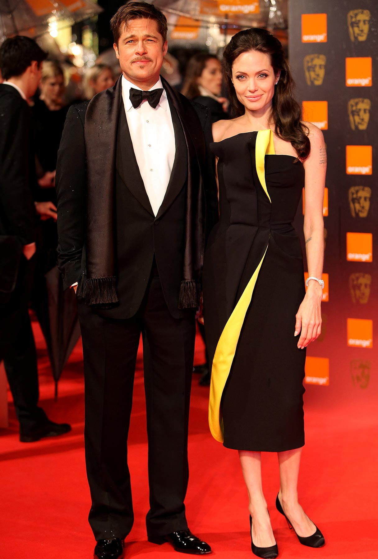 Meanwhile in England: Brangelina Hit BAFTAs