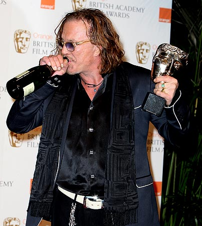 Mickey Rourke Rocks BAFTA Awards