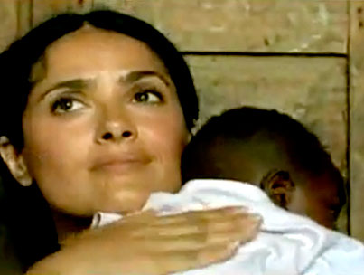 VIDEO: Salma Hayek Breast-Feeds Another Woman's Baby