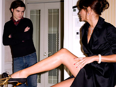 Ed Westwick Seduced By Mrs. Christensen?
