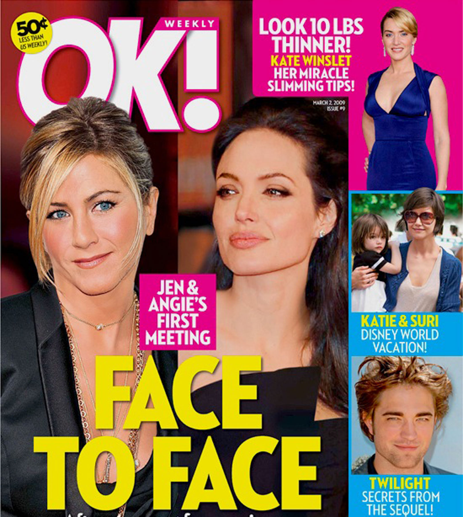 Mag: Jen Aniston and Angelina Jolie Set to Square Off
