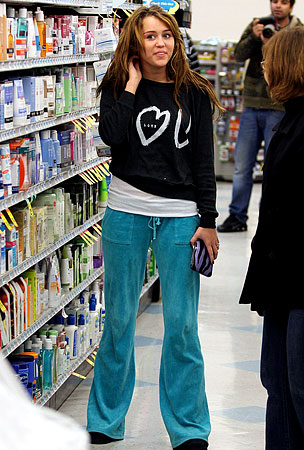 Miley Cyrus Sweats It at Rite-Aid