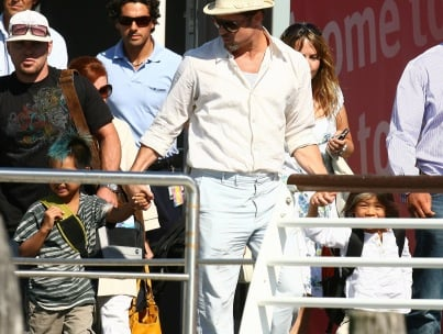 Brad Pitt and Sons: Viva Las Vegas!
