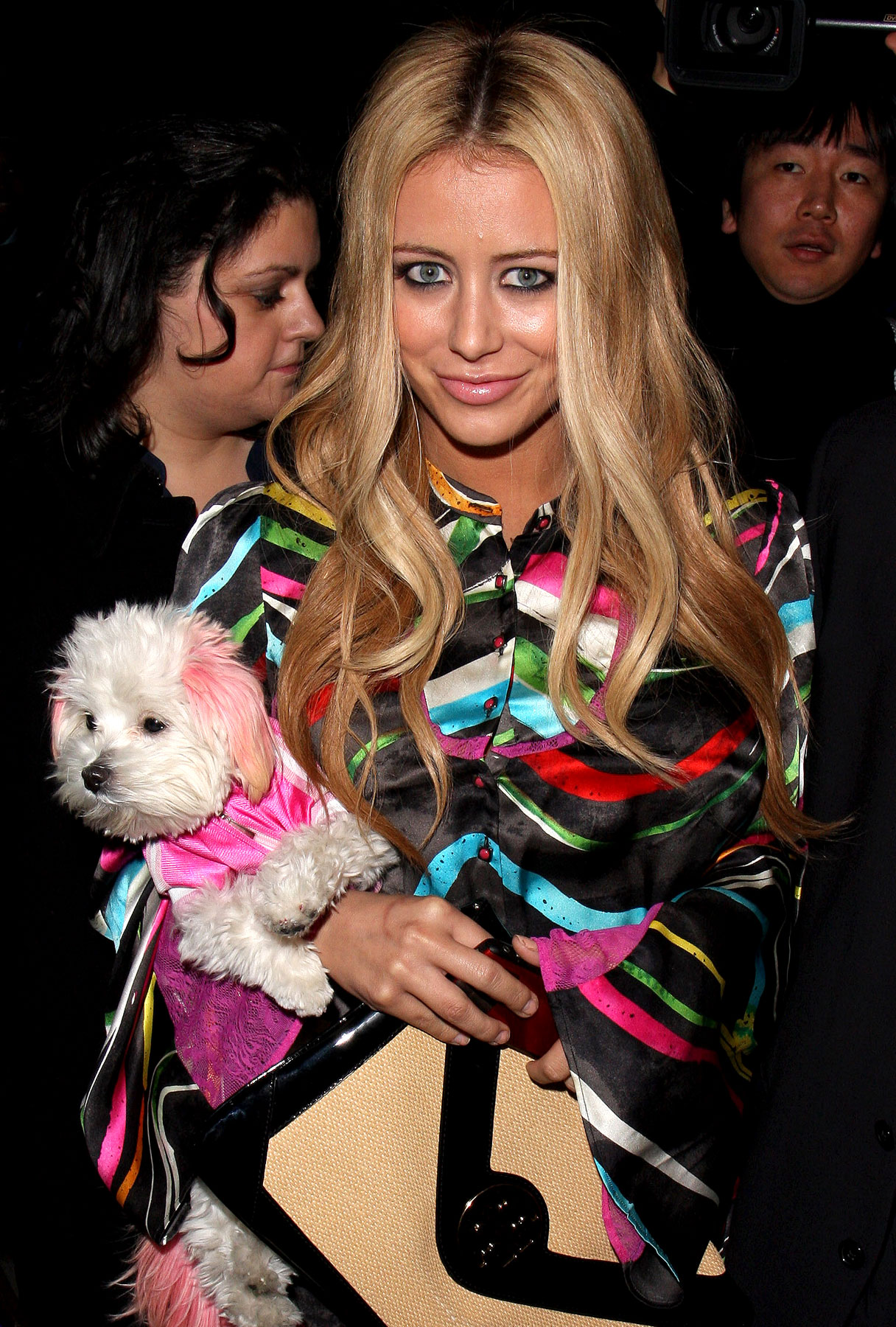 Aubrey O'Day Dogs It at Fashion Week