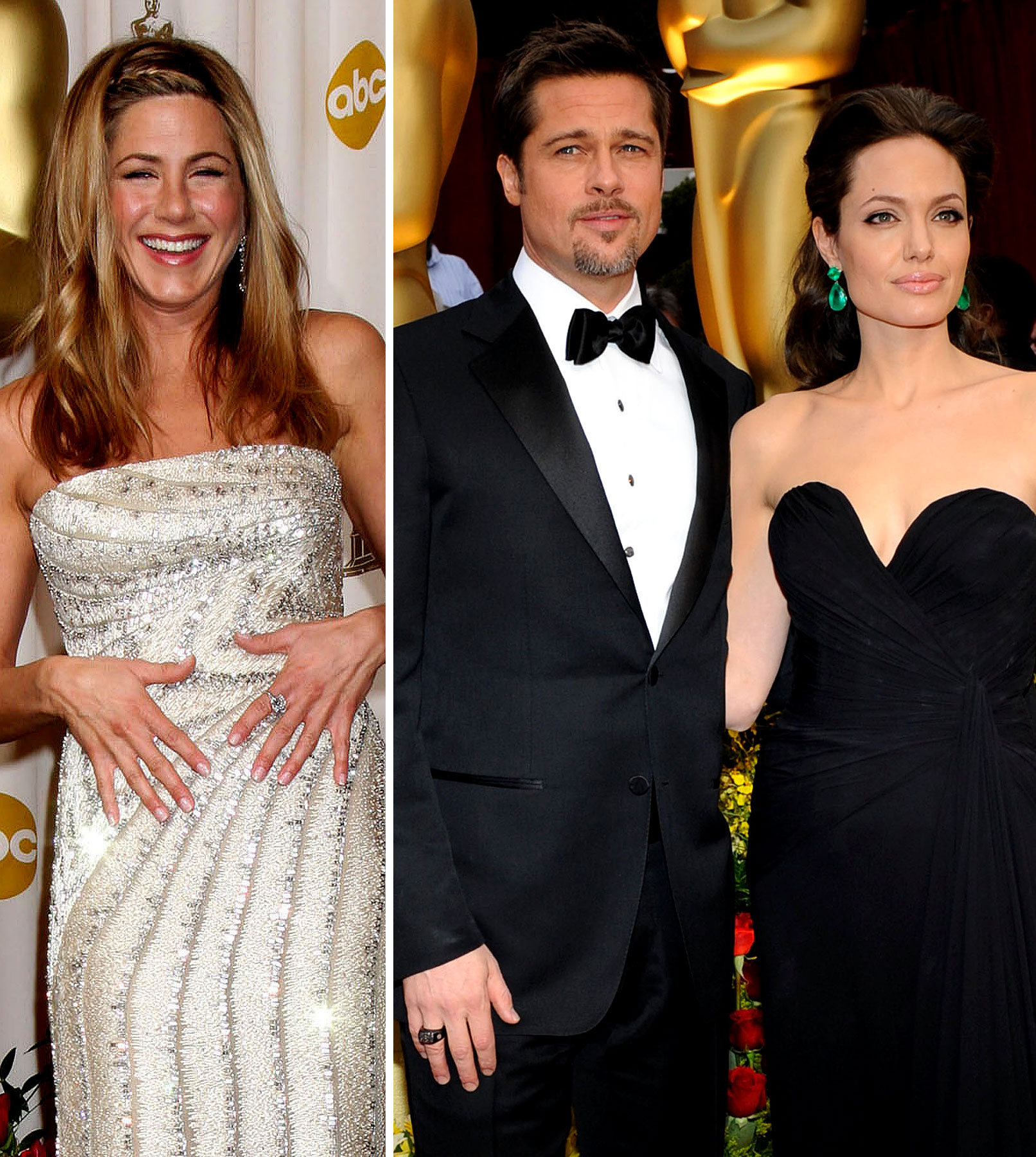 Angelina Jolie: Big Smiles For Aniston
