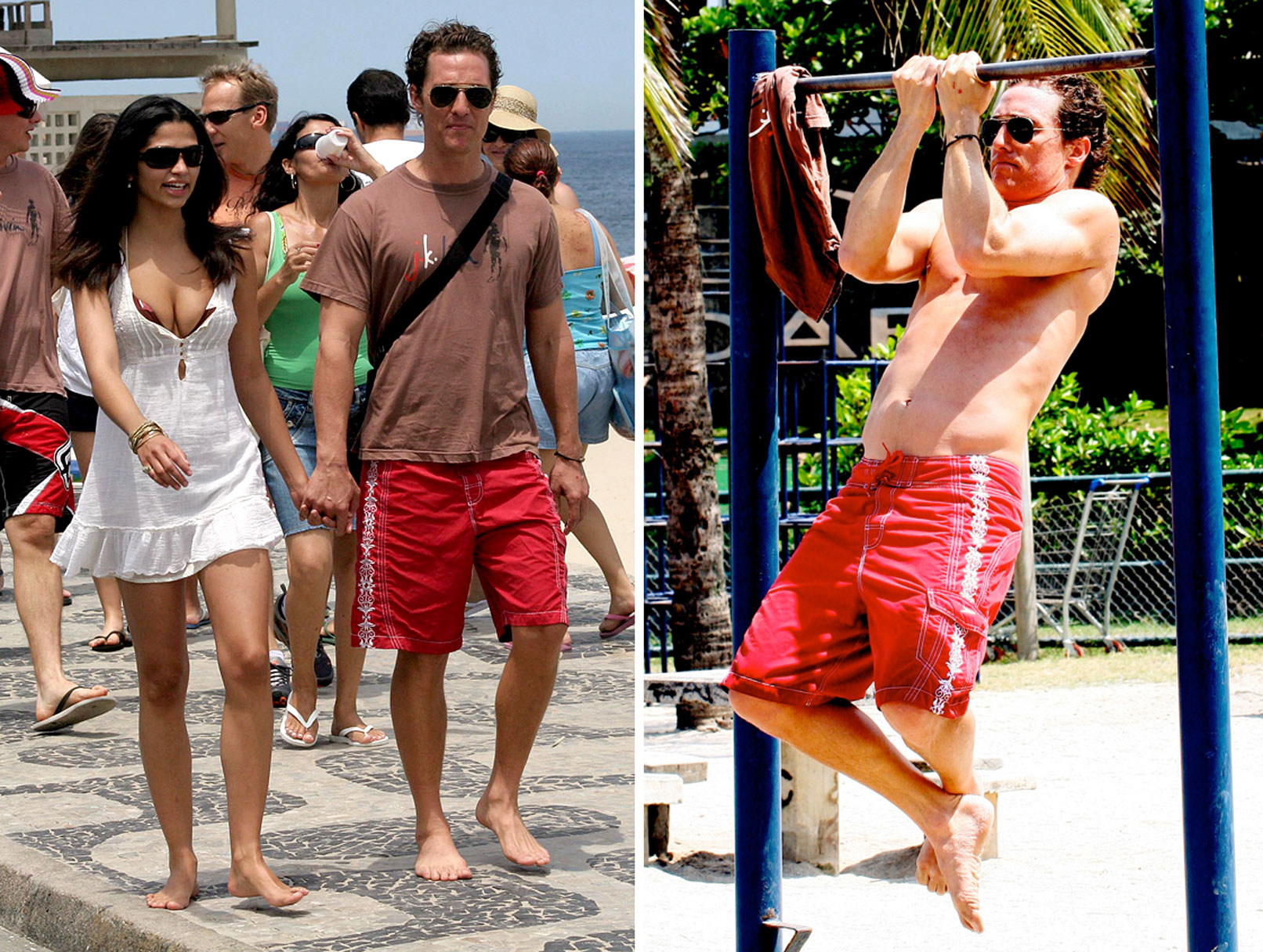 Matthew McConaughey and Camila Alves in Rio