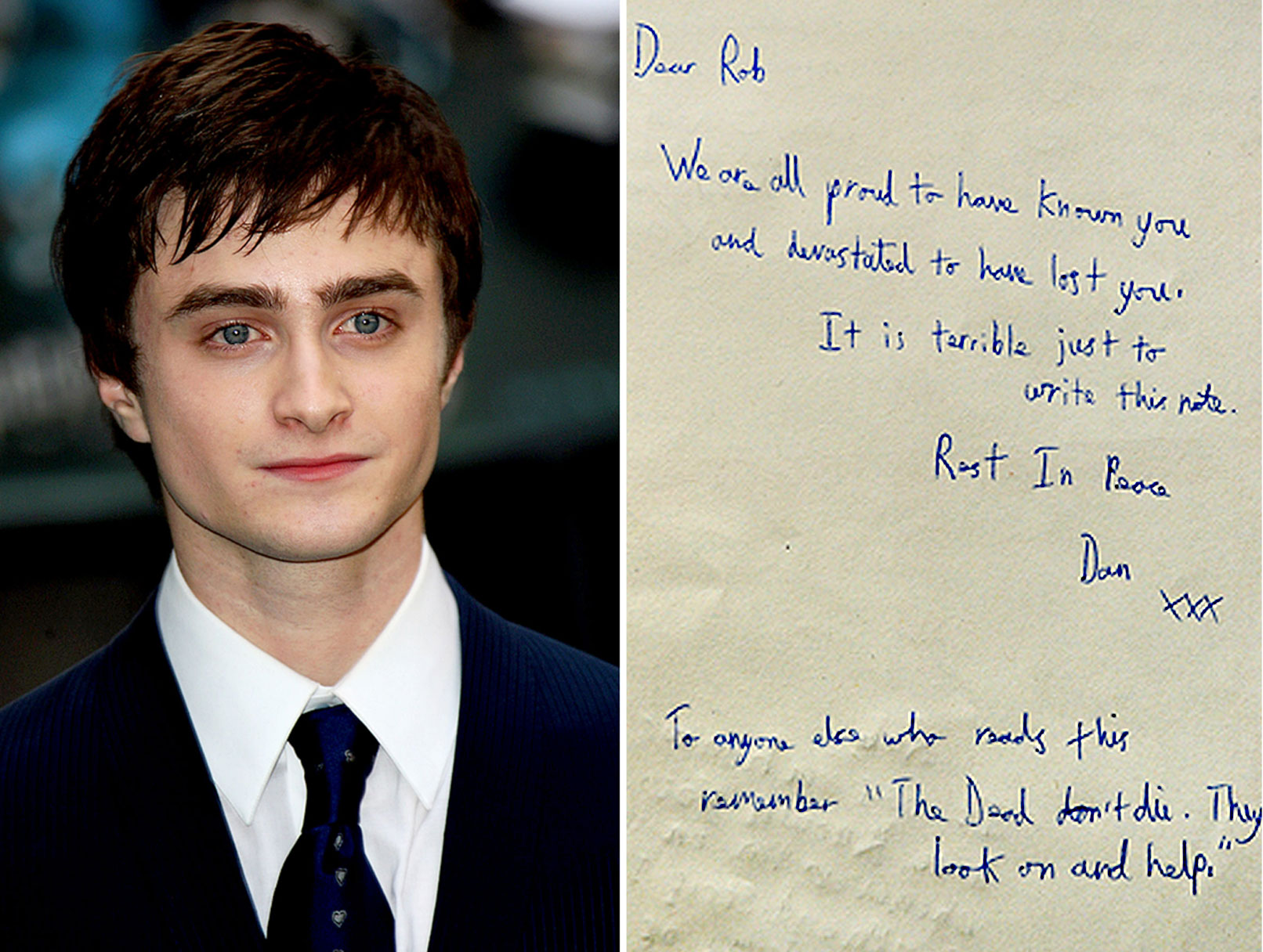 Daniel Radcliffe Offers Condolences to Murdered Co-Star's Family