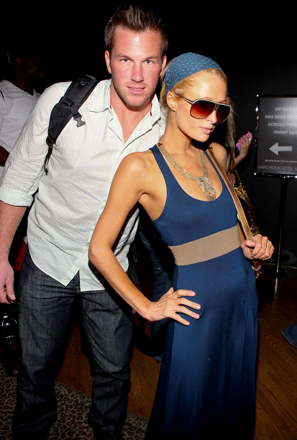 Paris Hilton and Doug Reinhardt arrive at The Hard Rock Hotel in Vegas