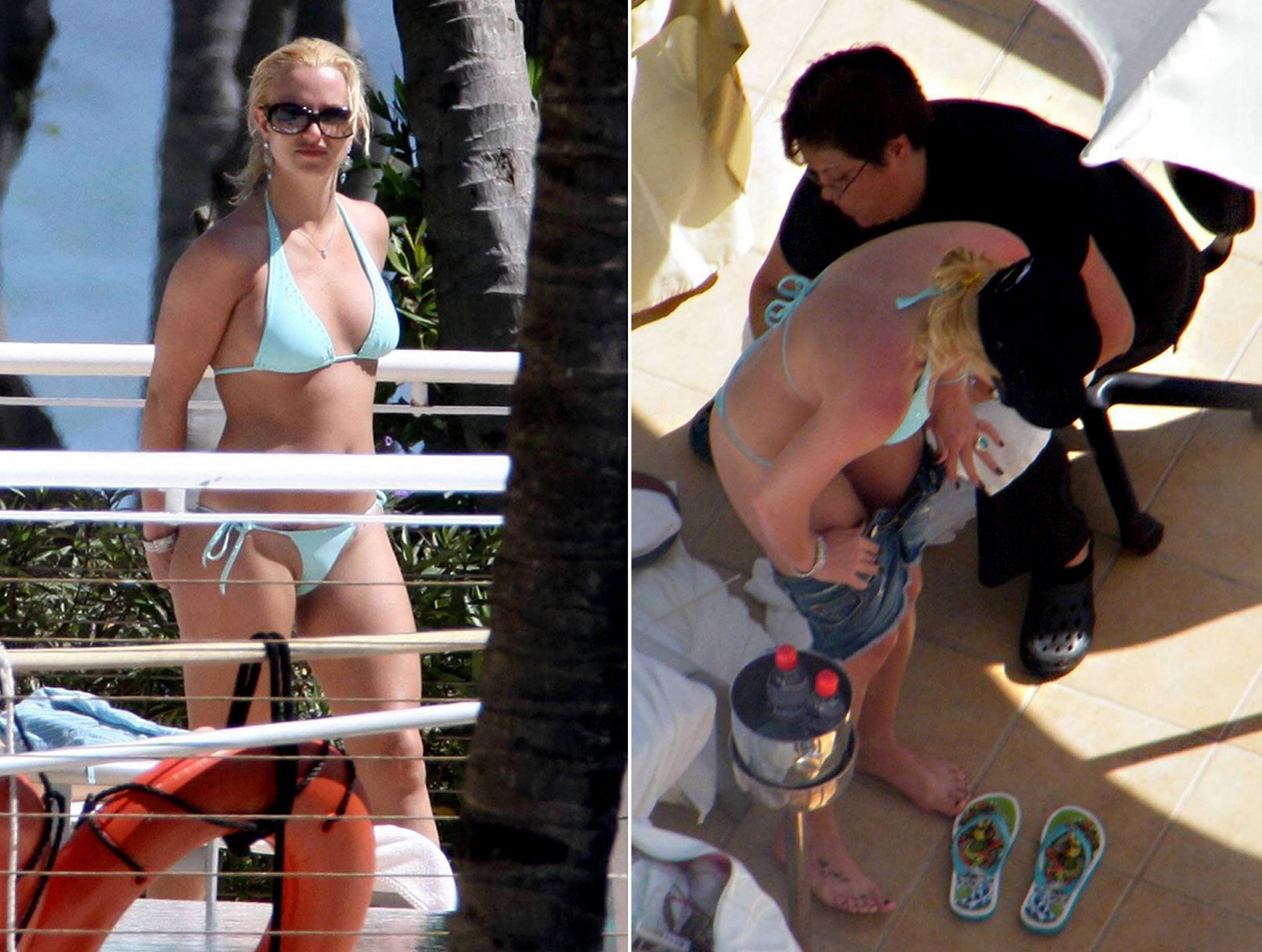 Britney Gets Some Shorts Assistance
