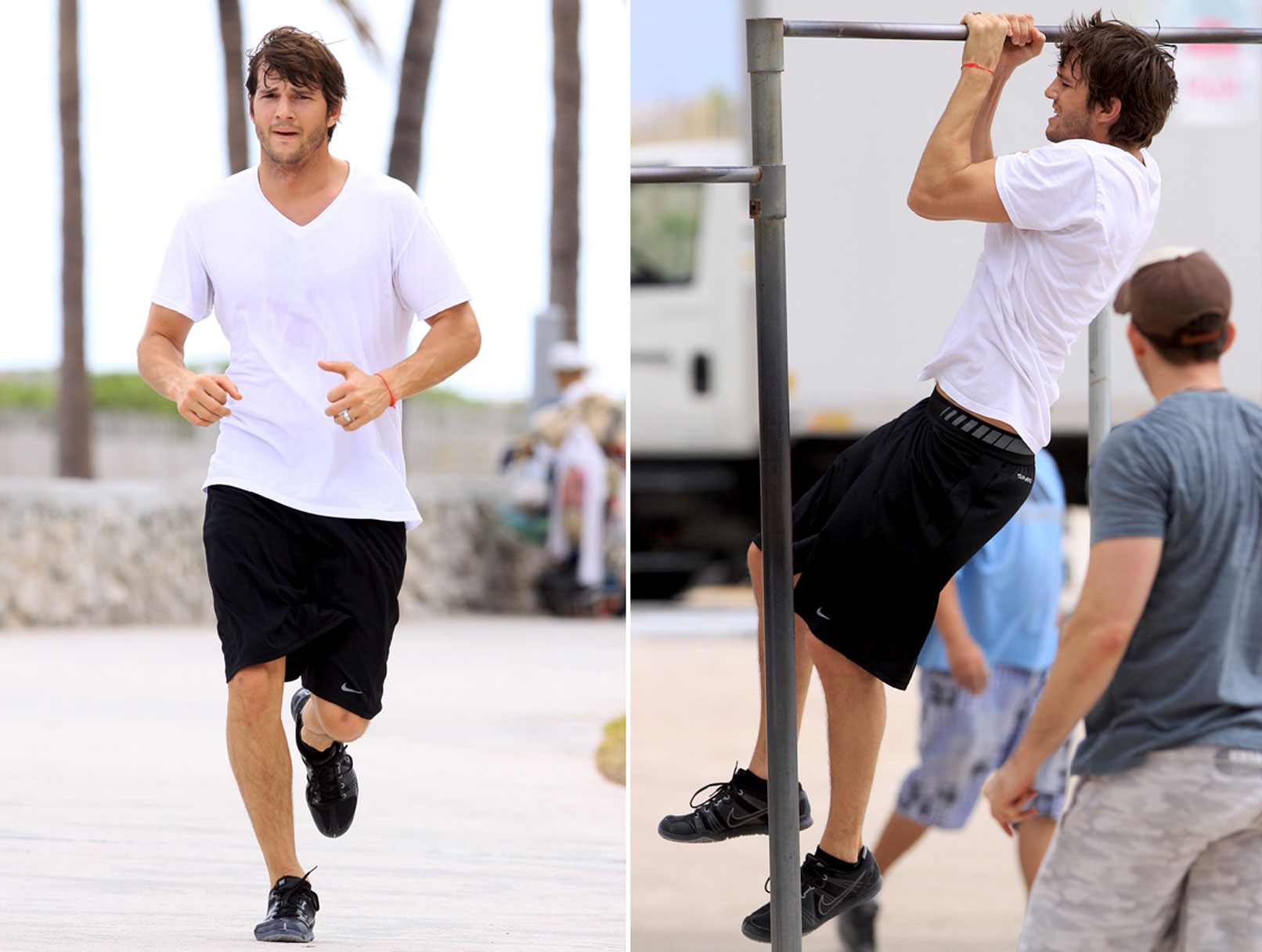 Ashton Kutcher Works It Out