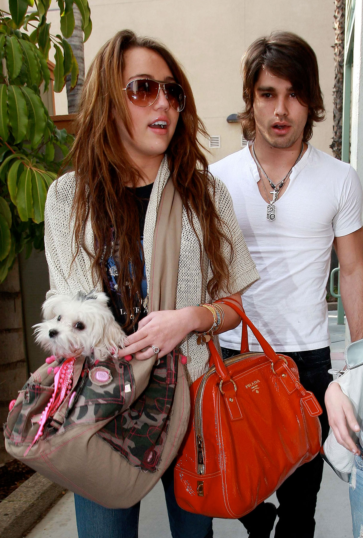 Miley Cyrus and Justin Gaston Do Lunch