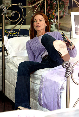 Marcia Cross Beds Down
