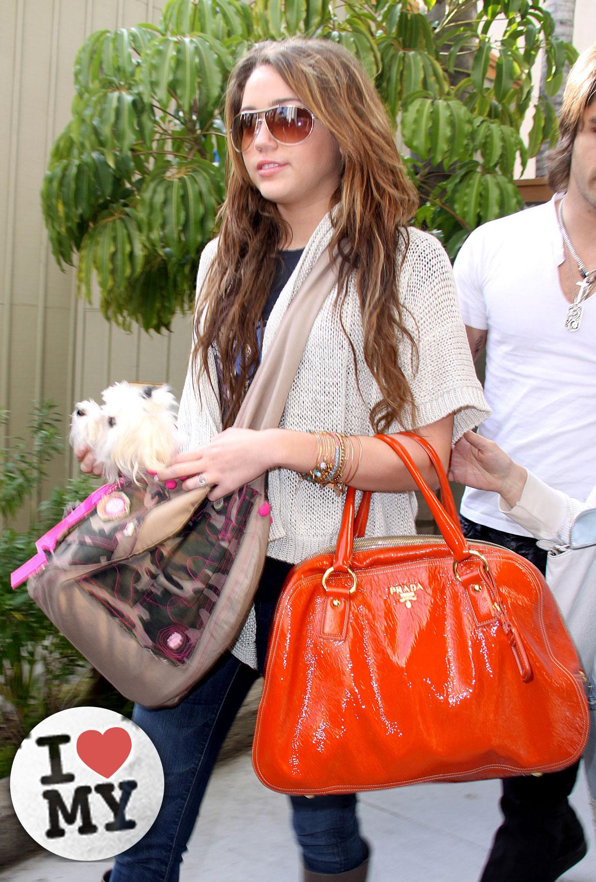 Miley Cyrus: I Love My…Orange Prada Bag