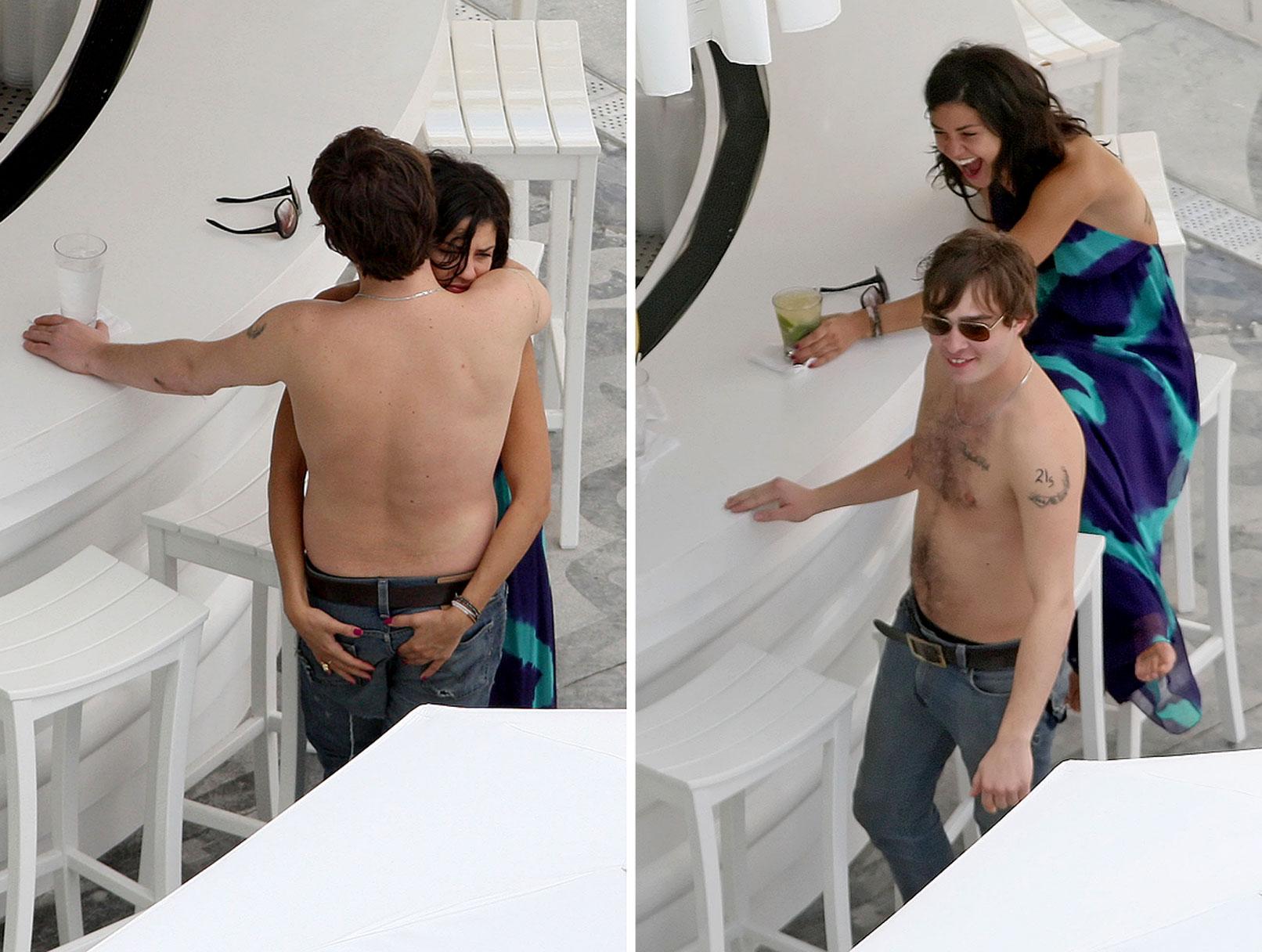 Ed Westwick and Jessica Szohr in Miami