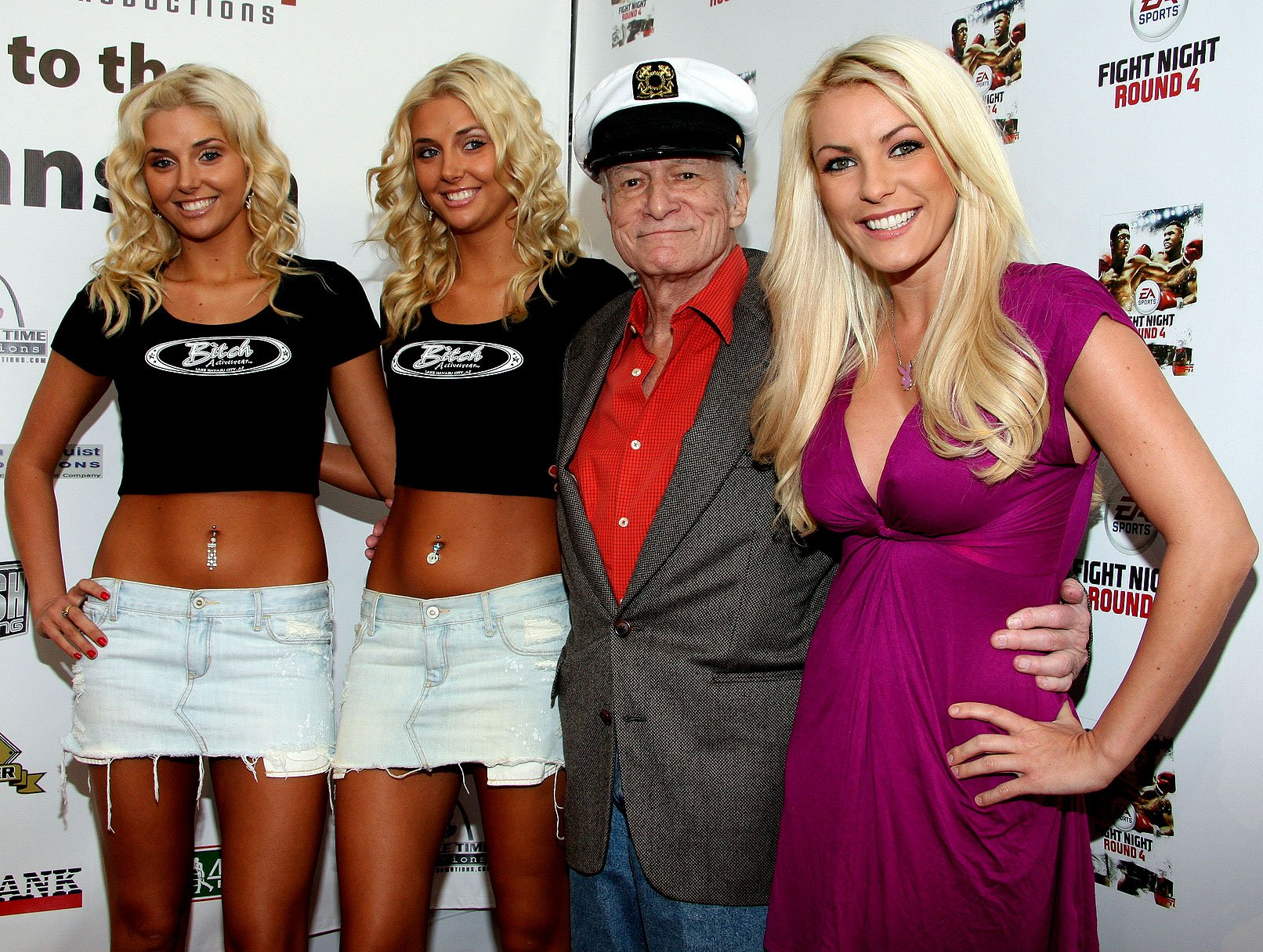 Hef and His Gals Get Punchy at the Mansion